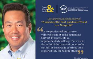 2020 11 23 LABJ article COVID19 Nonprofits Mark