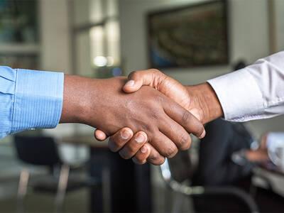 Men handshake