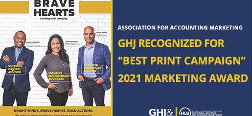 2021 05 28 AAM GHJ Award Best Print Campaign