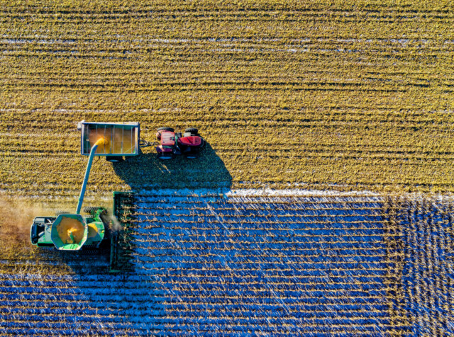 Aerial Shot Aerial View Agriculture 1595104
